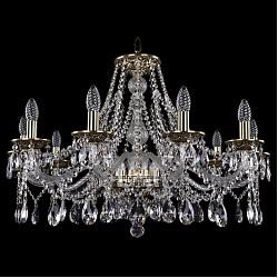Подвесная люстра Bohemia Ivele CrystalБолее 6 ламп<br>Артикул - BI_1613_10_300_GB,Бренд - Bohemia Ivele Crystal (Чехия),Коллекция - 1613,Гарантия, месяцы - 24,Высота, мм - 530,Диаметр, мм - 810,Размер упаковки, мм - 610x610x200,Тип лампы - компактная люминесцентная [КЛЛ] ИЛИнакаливания ИЛИсветодиодная [LED],Общее кол-во ламп - 10,Напряжение питания лампы, В - 220,Максимальная мощность лампы, Вт - 40,Лампы в комплекте - отсутствуют,Цвет плафонов и подвесок - неокрашенный,Тип поверхности плафонов - прозрачный,Материал плафонов и подвесок - хрусталь,Цвет арматуры - золото черненое, неокрашенный,Тип поверхности арматуры - глянцевый, прозрачный, рельефный,Материал арматуры - латунь, стекло,Возможность подлючения диммера - можно, если установить лампу накаливания,Форма и тип колбы - свеча ИЛИ свеча на ветру,Тип цоколя лампы - E14,Класс электробезопасности - I,Общая мощность, Вт - 400,Степень пылевлагозащиты, IP - 20,Диапазон рабочих температур - комнатная температура,Дополнительные параметры - способ крепления светильника к потолку - на крюке, указана высота светильника без подвеса<br>
