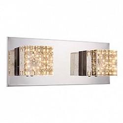 Накладной светильник GloboСветодиодные<br>Артикул - GB_42505-2,Бренд - Globo (Австрия),Коллекция - Macan,Гарантия, месяцы - 24,Размер упаковки, мм - 340x170x150,Тип лампы - светодиодная [LED],Общее кол-во ламп - 2,Напряжение питания лампы, В - 17,Максимальная мощность лампы, Вт - 5,Лампы в комплекте - светодиодные [LED],Цвет плафонов и подвесок - неокрашенный,Тип поверхности плафонов - прозрачный,Материал плафонов и подвесок - стекло,Цвет арматуры - хром,Тип поверхности арматуры - глянцевый,Материал арматуры - металл,Возможность подлючения диммера - нельзя,Класс электробезопасности - I,Общая мощность, Вт - 10,Степень пылевлагозащиты, IP - 20,Диапазон рабочих температур - комнатная температура,Дополнительные параметры - способ крепления светильника к потолку и стене - на монтажной пластине<br>