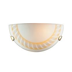 Накладной светильник SonexСветодиодные<br>Артикул - SN_071,Бренд - Sonex (Россия),Коллекция - Turbina,Гарантия, месяцы - 24,Высота, мм - 150,Тип лампы - компактная люминесцентная [КЛЛ] ИЛИнакаливания ИЛИсветодиодная [LED],Общее кол-во ламп - 1,Напряжение питания лампы, В - 220,Максимальная мощность лампы, Вт - 100,Лампы в комплекте - отсутствуют,Цвет плафонов и подвесок - белый с янтарным орнаментом,Тип поверхности плафонов - матовый,Материал плафонов и подвесок - стекло,Цвет арматуры - золото,Тип поверхности арматуры - глянцевый,Материал арматуры - металл,Возможность подлючения диммера - можно, если установить лампу накаливания,Тип цоколя лампы - E27,Класс электробезопасности - I,Степень пылевлагозащиты, IP - 20,Диапазон рабочих температур - комнатная температура<br>