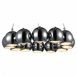 Подвесной светильник ST-LuceБарные<br>Артикул - SL854.103.12,Бренд - ST-Luce (Китай),Коллекция - SL854,Гарантия, месяцы - 24,Высота, мм - 450-1370,Диаметр, мм - 580,Размер упаковки, мм - 640х640х180,Тип лампы - компактная люминесцентная [КЛЛ] ИЛИнакаливания ИЛИсветодиодная [LED],Общее кол-во ламп - 12,Напряжение питания лампы, В - 220,Максимальная мощность лампы, Вт - 40,Лампы в комплекте - отсутствуют,Цвет плафонов и подвесок - серебро, хром,Тип поверхности плафонов - глянцевый, металлик,Материал плафонов и подвесок - металл,Цвет арматуры - хром,Тип поверхности арматуры - глянцевый, металлик,Материал арматуры - металл,Возможность подлючения диммера - можно, если установить лампу накаливания,Тип цоколя лампы - E14,Класс электробезопасности - I,Общая мощность, Вт - 480,Степень пылевлагозащиты, IP - 20,Диапазон рабочих температур - комнатная температура,Дополнительные параметры - регулируется по высоте,  способ крепления светильника к потолку – на монтажной пластине<br>