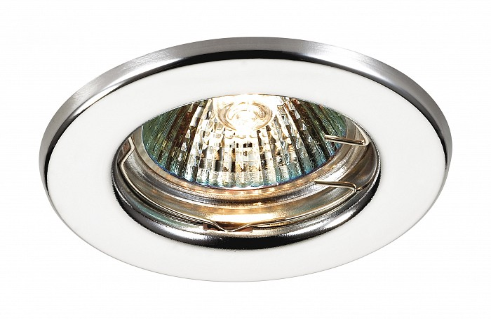 Встраиваемый светильник NovotechВстраиваемые светильники<br>Артикул - NV_369702,Бренд - Novotech (Венгрия),Коллекция - Classic,Гарантия, месяцы - 24,Время изготовления, дней - 1,Глубина, мм - 30,Диаметр, мм - 82,Размер врезного отверстия, мм - 60,Тип лампы - галогеновая ИЛИсветодиодная [LED],Общее кол-во ламп - 1,Напряжение питания лампы, В - 12,Максимальная мощность лампы, Вт - 50,Лампы в комплекте - отсутствуют,Цвет арматуры - хром,Тип поверхности арматуры - глянцевый,Материал арматуры - металл,Возможность подлючения диммера - можно, если установить галогеновую лампу,Форма и тип колбы - полусферическая с рефлектором ИЛИполусферическая с радиатором,Тип цоколя лампы - GX5.3,Экономичнее лампы накаливания - на 50%,Класс электробезопасности - I,Напряжение питания, В - 220,Степень пылевлагозащиты, IP - 20,Диапазон рабочих температур - комнатная температура,Дополнительные параметры - возможна установка лампы GX5.3 (MR-16) на 12 В с подключением через трансформатор 12 В<br>