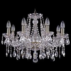 Подвесная люстра Bohemia Ivele CrystalБолее 6 ламп<br>Артикул - BI_1413_8_200_Pa,Бренд - Bohemia Ivele Crystal (Чехия),Коллекция - 1413,Гарантия, месяцы - 24,Высота, мм - 400,Диаметр, мм - 570,Размер упаковки, мм - 450x450x200,Тип лампы - компактная люминесцентная [КЛЛ] ИЛИнакаливания ИЛИсветодиодная [LED],Общее кол-во ламп - 8,Напряжение питания лампы, В - 220,Максимальная мощность лампы, Вт - 40,Лампы в комплекте - отсутствуют,Цвет плафонов и подвесок - неокрашенный,Тип поверхности плафонов - прозрачный,Материал плафонов и подвесок - хрусталь,Цвет арматуры - золото с патиной, неокрашенный,Тип поверхности арматуры - глянцевый, прозрачный, рельефный,Материал арматуры - металл, стекло,Возможность подлючения диммера - можно, если установить лампу накаливания,Форма и тип колбы - свеча ИЛИ свеча на ветру,Тип цоколя лампы - E14,Класс электробезопасности - I,Общая мощность, Вт - 320,Степень пылевлагозащиты, IP - 20,Диапазон рабочих температур - комнатная температура,Дополнительные параметры - способ крепления светильника к потолку - на крюке, указана высота светильника без подвеса<br>