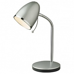 Настольная лампа Odeon LightМеталлический плафон<br>Артикул - OD_2330_1T,Бренд - Odeon Light (Италия),Коллекция - Luri,Гарантия, месяцы - 24,Время изготовления, дней - 1,Высота, мм - 280,Диаметр, мм - 135,Тип лампы - компактная люминесцентная [КЛЛ] ИЛИнакаливания ИЛИсветодиодная [LED],Общее кол-во ламп - 1,Напряжение питания лампы, В - 220,Максимальная мощность лампы, Вт - 40,Лампы в комплекте - отсутствуют,Цвет плафонов и подвесок - хром с каймой,Тип поверхности плафонов - глянцевый,Материал плафонов и подвесок - металл,Цвет арматуры - хром,Тип поверхности арматуры - глянцевый,Материал арматуры - металл,Тип цоколя лампы - E27,Класс электробезопасности - II,Степень пылевлагозащиты, IP - 20,Диапазон рабочих температур - комнатная температура,Дополнительные параметры - поворотный светильник:высота плафона 120 мм, диаметр плафона 95 мм<br>
