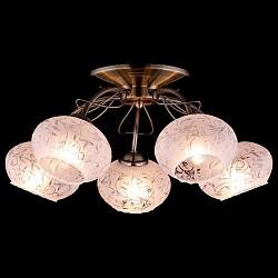 Потолочная люстра Оптима5 или 6 ламп<br>Артикул - EV_76411,Бренд - Оптима (Китай),Коллекция - Колибри,Гарантия, месяцы - 24,Высота, мм - 230,Диаметр, мм - 450,Тип лампы - компактная люминесцентная [КЛЛ] ИЛИнакаливания ИЛИсветодиодная [LED],Общее кол-во ламп - 5,Напряжение питания лампы, В - 220,Максимальная мощность лампы, Вт - 60,Лампы в комплекте - отсутствуют,Цвет плафонов и подвесок - белый с неокрашенным рисунком,Тип поверхности плафонов - матовый,Материал плафонов и подвесок - стекло,Цвет арматуры - бронза античная,Тип поверхности арматуры - матовый,Материал арматуры - металл,Возможность подлючения диммера - можно, если установить лампу накаливания,Тип цоколя лампы - E27,Класс электробезопасности - I,Общая мощность, Вт - 300,Степень пылевлагозащиты, IP - 20,Диапазон рабочих температур - комнатная температура,Дополнительные параметры - способ крепления светильника к потолку - на монтажной пластине<br>
