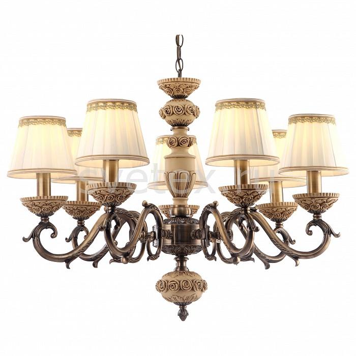 Подвесная люстра Arte LampСветильники<br>Артикул - AR_A9575LM-7AB,Бренд - Arte Lamp (Италия),Коллекция - Cherish,Гарантия, месяцы - 24,Высота, мм - 500-1060,Диаметр, мм - 730,Тип лампы - компактная люминесцентная [КЛЛ] ИЛИнакаливания ИЛИсветодиодная [LED],Общее кол-во ламп - 7,Напряжение питания лампы, В - 220,Максимальная мощность лампы, Вт - 40,Лампы в комплекте - отсутствуют,Цвет плафонов и подвесок - белый с каймой,Тип поверхности плафонов - матовый,Материал плафонов и подвесок - текстиль,Цвет арматуры - бронза античная, бежевый,Тип поверхности арматуры - матовый, рельефный,Материал арматуры - металл, полимер,Количество плафонов - 7,Возможность подлючения диммера - можно, если установить лампу накаливания,Тип цоколя лампы - E14,Класс электробезопасности - I,Общая мощность, Вт - 280,Степень пылевлагозащиты, IP - 20,Диапазон рабочих температур - комнатная температура<br>