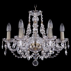 Подвесная люстра Bohemia Ivele Crystal5 или 6 ламп<br>Артикул - BI_1406_6_160_Pa,Бренд - Bohemia Ivele Crystal (Чехия),Коллекция - 1406,Гарантия, месяцы - 24,Высота, мм - 410,Диаметр, мм - 490,Размер упаковки, мм - 450x450x200,Тип лампы - компактная люминесцентная [КЛЛ] ИЛИнакаливания ИЛИсветодиодная [LED],Общее кол-во ламп - 6,Напряжение питания лампы, В - 220,Максимальная мощность лампы, Вт - 40,Лампы в комплекте - отсутствуют,Цвет плафонов и подвесок - неокрашенный,Тип поверхности плафонов - прозрачный,Материал плафонов и подвесок - хрусталь,Цвет арматуры - неокрашенный, патина,Тип поверхности арматуры - глянцевый, прозрачный,Материал арматуры - металл, стекло,Возможность подлючения диммера - можно, если установить лампу накаливания,Форма и тип колбы - свеча,Тип цоколя лампы - E14,Класс электробезопасности - I,Общая мощность, Вт - 240,Степень пылевлагозащиты, IP - 20,Диапазон рабочих температур - комнатная температура,Дополнительные параметры - способ крепления светильника к потолку – на крюке<br>