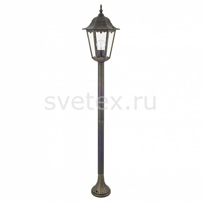 Наземный высокий светильник FavouriteСветильники<br>Артикул - FV_1808-1F,Бренд - Favourite (Германия),Коллекция - London,Гарантия, месяцы - 24,Время изготовления, дней - 1,Высота, мм - 1250,Диаметр, мм - 230,Тип лампы - компактная люминесцентная [КЛЛ] ИЛИнакаливания ИЛИсветодиодная [LED],Общее кол-во ламп - 1,Напряжение питания лампы, В - 220,Максимальная мощность лампы, Вт - 100,Лампы в комплекте - отсутствуют,Цвет плафонов и подвесок - неокрашенный,Тип поверхности плафонов - прозрачный,Материал плафонов и подвесок - стекло,Цвет арматуры - черный с золотой патиной,Тип поверхности арматуры - матовый,Материал арматуры - металл,Количество плафонов - 1,Тип цоколя лампы - E27,Класс электробезопасности - I,Степень пылевлагозащиты, IP - 44,Диапазон рабочих температур - от -40^С до +40^C<br>