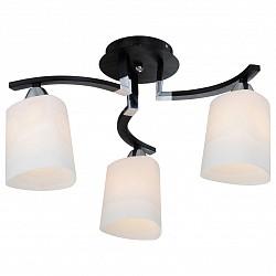 Люстра на штанге IDLampНе более 4 ламп<br>Артикул - ID_860_3PF-dark,Бренд - IDLamp (Италия),Коллекция - 860,Гарантия, месяцы - 24,Высота, мм - 260,Диаметр, мм - 520,Тип лампы - компактная люминесцентная [КЛЛ] ИЛИнакаливания ИЛИсветодиодная [LED],Общее кол-во ламп - 3,Напряжение питания лампы, В - 220,Максимальная мощность лампы, Вт - 60,Лампы в комплекте - отсутствуют,Цвет плафонов и подвесок - белый,Тип поверхности плафонов - глянцевый,Материал плафонов и подвесок - стекло,Цвет арматуры - хром, черный,Тип поверхности арматуры - глянцевый,Материал арматуры - металл,Возможность подлючения диммера - можно, если установить лампу накаливания,Тип цоколя лампы - E14,Класс электробезопасности - I,Общая мощность, Вт - 180,Степень пылевлагозащиты, IP - 20,Диапазон рабочих температур - комнатная температура,Дополнительные параметры - способ крепления светильника к потолку — на монтажной пластине, если Вам нужно повесить светильник на крюк, укажите это в комментарии к заказу, - мы положим в подарок пластину с ушком для крюка<br>