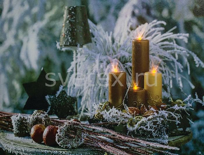 Фото Панно световое Feron x 30 см x 40 см LT115 Золотые свечи 26972