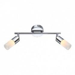 Спот GloboС 2 лампами<br>Артикул - GB_56216-2,Бренд - Globo (Австрия),Коллекция - Spina,Гарантия, месяцы - 24,Тип лампы - светодиодная [LED],Общее кол-во ламп - 2,Напряжение питания лампы, В - 170,Максимальная мощность лампы, Вт - 5,Лампы в комплекте - светодиодные [LED],Цвет плафонов и подвесок - белый опал,Тип поверхности плафонов - матовый,Материал плафонов и подвесок - полимер,Цвет арматуры - хром,Тип поверхности арматуры - глянцевый,Материал арматуры - металл,Возможность подлючения диммера - нельзя,Класс электробезопасности - I,Общая мощность, Вт - 10,Степень пылевлагозащиты, IP - 20,Диапазон рабочих температур - комнатная температура,Дополнительные параметры - поворотный светильник<br>