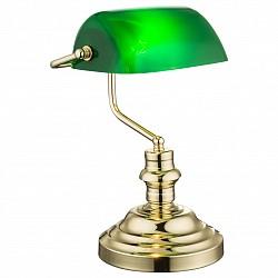 Настольная лампа GloboПолимерные<br>Артикул - GB_2491K,Бренд - Globo (Австрия),Коллекция - Antique,Гарантия, месяцы - 24,Высота, мм - 360,Размер упаковки, мм - 285х205х380,Тип лампы - компактная люминесцентная [КЛЛ] ИЛИнакаливания ИЛИсветодиодная [LED],Общее кол-во ламп - 1,Напряжение питания лампы, В - 220,Максимальная мощность лампы, Вт - 60,Лампы в комплекте - отсутствуют,Цвет плафонов и подвесок - зеленый,Тип поверхности плафонов - глянцевый,Материал плафонов и подвесок - акрил,Цвет арматуры - латунь,Тип поверхности арматуры - глянцевый, металлик,Материал арматуры - металл,Тип цоколя лампы - E27,Класс электробезопасности - II,Степень пылевлагозащиты, IP - 20,Диапазон рабочих температур - комнатная температура<br>