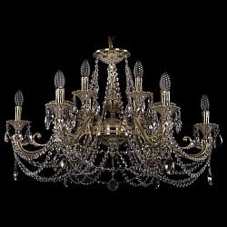 Подвесная люстра Bohemia Ivele CrystalБолее 6 ламп<br>Артикул - BI_1703_12_320_C_GI,Бренд - Bohemia Ivele Crystal (Чехия),Коллекция - 1703,Гарантия, месяцы - 24,Высота, мм - 460,Диаметр, мм - 840,Размер упаковки, мм - 640x640x370,Тип лампы - компактная люминесцентная [КЛЛ] ИЛИнакаливания ИЛИсветодиодная [LED],Общее кол-во ламп - 12,Напряжение питания лампы, В - 220,Максимальная мощность лампы, Вт - 40,Лампы в комплекте - отсутствуют,Цвет плафонов и подвесок - неокрашенный,Тип поверхности плафонов - прозрачный,Материал плафонов и подвесок - хрусталь,Цвет арматуры - золото, слоновая кость,Тип поверхности арматуры - глянцевый, рельефный,Материал арматуры - латунь,Возможность подлючения диммера - можно, если установить лампу накаливания,Форма и тип колбы - свеча ИЛИ свеча на ветру,Тип цоколя лампы - E14,Класс электробезопасности - I,Общая мощность, Вт - 480,Степень пылевлагозащиты, IP - 20,Диапазон рабочих температур - комнатная температура,Дополнительные параметры - способ крепления светильника к потолку - на крюке, указана высота светильника без подвеса<br>