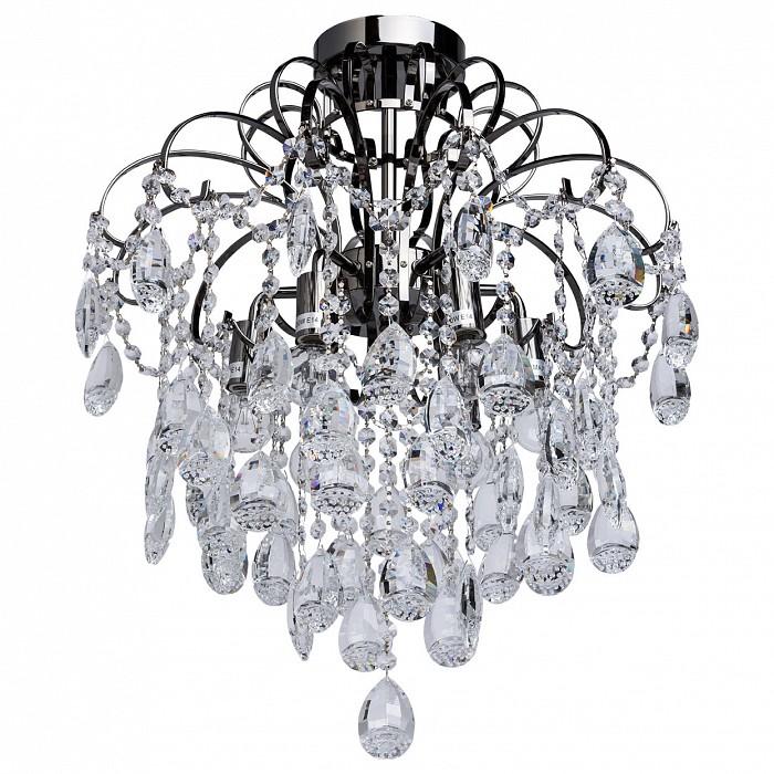 Люстра на штанге De Markt5 или 6 ламп<br>Артикул - MW_464017206,Бренд - De Markt (Германия),Коллекция - Бриз,Гарантия, месяцы - 24,Высота, мм - 570,Диаметр, мм - 500,Размер упаковки, мм - 340x260x120,Тип лампы - компактная люминесцентная [КЛЛ] ИЛИнакаливания ИЛИсветодиодная [LED],Общее кол-во ламп - 6,Напряжение питания лампы, В - 220,Максимальная мощность лампы, Вт - 60,Лампы в комплекте - отсутствуют,Цвет плафонов и подвесок - неокрашенный,Тип поверхности плафонов - прозрачный,Материал плафонов и подвесок - хрусталь,Цвет арматуры - хром черный,Тип поверхности арматуры - глянцевый,Материал арматуры - металл,Возможность подлючения диммера - можно, если установить лампу накаливания,Тип цоколя лампы - E14,Класс электробезопасности - I,Общая мощность, Вт - 360,Степень пылевлагозащиты, IP - 20,Диапазон рабочих температур - комнатная температура,Дополнительные параметры - способ крепления светильника к потолку - на монтажной пластине<br>