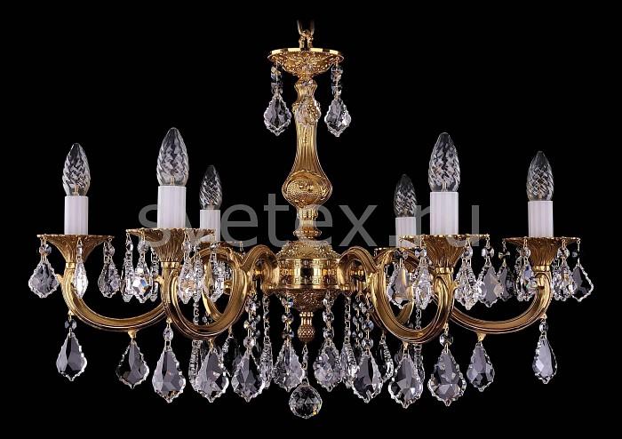 Фото Подвесная люстра Bohemia Ivele Crystal 1702 1702/6/A/G/Leafs