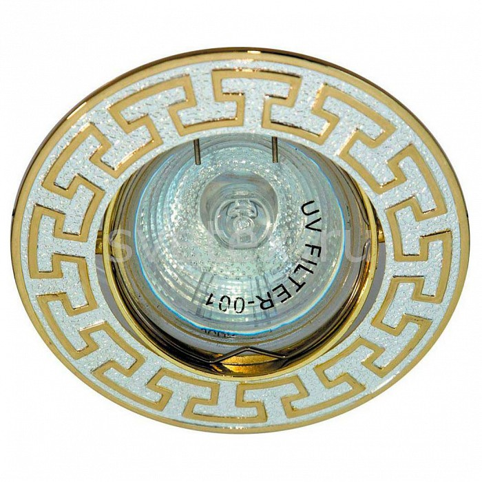 Встраиваемый светильник FeronПотолочные светильники<br>Артикул - FE_17809,Бренд - Feron (Китай),Коллекция - DL2008,Гарантия, месяцы - 24,Глубина, мм - 24,Диаметр, мм - 90,Размер врезного отверстия, мм - 72,Тип лампы - галогеновая ИЛИсветодиодная [LED],Общее кол-во ламп - 1,Напряжение питания лампы, В - 12,Максимальная мощность лампы, Вт - 50,Лампы в комплекте - отсутствуют,Цвет арматуры - золото с серебряным рисунком,Тип поверхности арматуры - глянцевый, матовый,Материал арматуры - металл,Возможность подлючения диммера - можно, если установить галогеновую лампу,Необходимые компоненты - блок питания 12В,Компоненты, входящие в комплект - нет,Форма и тип колбы - полусферическая с рефлектором,Тип цоколя лампы - GU5.3,Класс электробезопасности - I,Напряжение питания, В - 220,Степень пылевлагозащиты, IP - 20,Диапазон рабочих температур - комнатная температура,Дополнительные параметры - поворотный светильник<br>