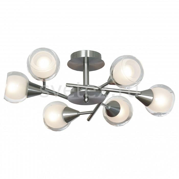 Люстра на штанге LussoleЛюстры<br>Артикул - LSP-0141,Бренд - Lussole (Италия),Коллекция - LGO-21,Время изготовления, дней - 1,Высота, мм - 250,Диаметр, мм - 600,Тип лампы - компактная люминесцентная [КЛЛ] ИЛИнакаливания ИЛИсветодиодная [LED],Общее кол-во ламп - 6,Напряжение питания лампы, В - 220,Максимальная мощность лампы, Вт - 40,Лампы в комплекте - отсутствуют,Цвет плафонов и подвесок - белый, неокрашенный,Тип поверхности плафонов - матовый, прозрачный,Материал плафонов и подвесок - стекло,Цвет арматуры - никель,Тип поверхности арматуры - матовый,Материал арматуры - металл,Количество плафонов - 6,Возможность подлючения диммера - можно, если установить лампу накаливания,Тип цоколя лампы - E14,Класс электробезопасности - I,Общая мощность, Вт - 240,Степень пылевлагозащиты, IP - 20,Диапазон рабочих температур - комнатная температура<br>