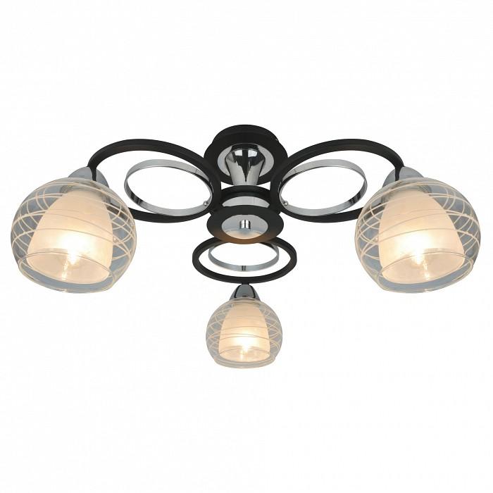 Потолочная люстра Arte LampЛюстры<br>Артикул - AR_A1604PL-3BK,Бренд - Arte Lamp (Италия),Коллекция - Ginevra,Гарантия, месяцы - 24,Время изготовления, дней - 1,Высота, мм - 260,Диаметр, мм - 520,Тип лампы - компактная люминесцентная [КЛЛ] ИЛИнакаливания ИЛИсветодиодная [LED],Общее кол-во ламп - 3,Напряжение питания лампы, В - 220,Максимальная мощность лампы, Вт - 40,Лампы в комплекте - отсутствуют,Цвет плафонов и подвесок - белый, неокрашенный,Тип поверхности плафонов - матовый, прозрачный,Материал плафонов и подвесок - стекло,Цвет арматуры - хром, черный,Тип поверхности арматуры - матовая,Материал арматуры - металл,Количество плафонов - 3,Тип цоколя лампы - E14,Класс электробезопасности - I,Общая мощность, Вт - 120,Степень пылевлагозащиты, IP - 20,Диапазон рабочих температур - комнатная температура,Дополнительные параметры - способ крепления светильника к потолку – на монтажной пластине<br>