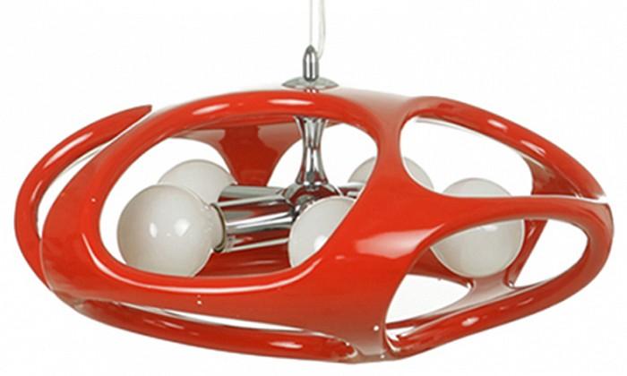 Подвесной светильник Kink LightСветильники<br>Артикул - KL_5333-5.06,Бренд - Kink Light (Китай),Коллекция - Тимон,Гарантия, месяцы - 12,Высота, мм - 1200,Диаметр, мм - 500,Размер упаковки, мм - 560x560x300,Тип лампы - накаливания,Общее кол-во ламп - 5,Напряжение питания лампы, В - 220,Максимальная мощность лампы, Вт - 40,Цвет лампы - белый теплый,Лампы в комплекте - накаливания E27,Цвет плафонов и подвесок - красный,Тип поверхности плафонов - матовый,Материал плафонов и подвесок - полимер,Цвет арматуры - красный, хром,Тип поверхности арматуры - глянцевый, матовый,Материал арматуры - металл,Количество плафонов - 1,Возможность подлючения диммера - можно,Форма и тип колбы - сферическая,Тип цоколя лампы - E27,Цветовая температура, K - 2700 K,Класс электробезопасности - I,Общая мощность, Вт - 200,Степень пылевлагозащиты, IP - 20,Диапазон рабочих температур - комнатная температура,Дополнительные параметры - способ крепления к потолку - на монтажной пластине<br>