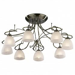 Потолочная люстра Odeon LightБолее 6 ламп<br>Артикул - OD_2120_8C,Бренд - Odeon Light (Италия),Коллекция - Kaena,Гарантия, месяцы - 24,Высота, мм - 350,Диаметр, мм - 770,Тип лампы - компактная люминесцентная [КЛЛ] ИЛИнакаливания ИЛИсветодиодная [LED],Общее кол-во ламп - 8,Напряжение питания лампы, В - 220,Максимальная мощность лампы, Вт - 60,Лампы в комплекте - отсутствуют,Цвет плафонов и подвесок - белый,Тип поверхности плафонов - матовый,Материал плафонов и подвесок - стекло,Цвет арматуры - бронза,Тип поверхности арматуры - глянцевый,Материал арматуры - металл,Количество плафонов - 8,Возможность подлючения диммера - можно, если установить лампу накаливания,Тип цоколя лампы - E14,Класс электробезопасности - I,Общая мощность, Вт - 480,Степень пылевлагозащиты, IP - 20,Диапазон рабочих температур - комнатная температура<br>