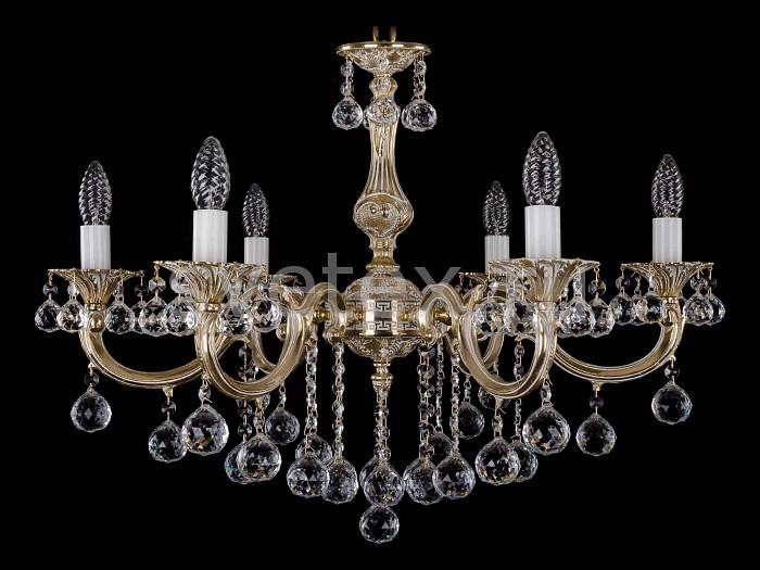 Фото Подвесная люстра Bohemia Ivele Crystal 1702 1702/6/B/GW/Balls