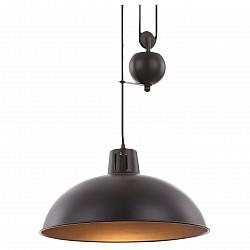 Подвесной светильник GloboБарные<br>Артикул - GB_15075,Бренд - Globo (Австрия),Коллекция - Sacramento,Гарантия, месяцы - 24,Высота, мм - 920-1980,Диаметр, мм - 370,Размер упаковки, мм - 410x410x280,Тип лампы - накаливания,Общее кол-во ламп - 1,Напряжение питания лампы, В - 220,Максимальная мощность лампы, Вт - 60,Лампы в комплекте - накаливания E27,Цвет плафонов и подвесок - медь,Тип поверхности плафонов - матовый,Материал плафонов и подвесок - металл,Цвет арматуры - медь,Тип поверхности арматуры - матовый,Материал арматуры - металл,Возможность подлючения диммера - можно,Форма и тип колбы - конусная,Тип цоколя лампы - E27,Класс электробезопасности - I,Степень пылевлагозащиты, IP - 20,Диапазон рабочих температур - комнатная температура,Дополнительные параметры - способ крепления светильника к потолку - на монтажной пластине, регулируется по высоте<br>