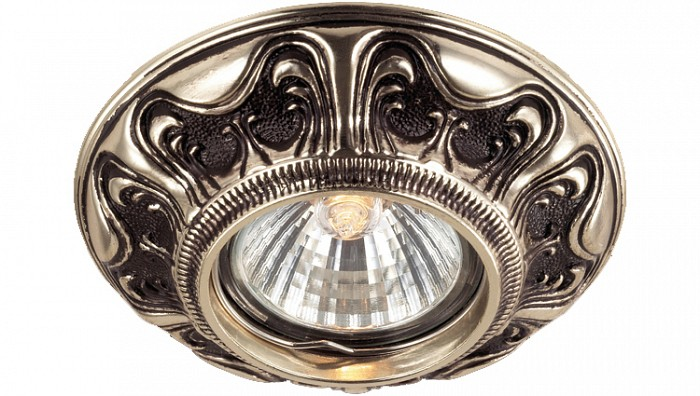 Встраиваемый светильник NovotechКруглые<br>Артикул - NV_369854,Бренд - Novotech (Венгрия),Коллекция - Vintage,Гарантия, месяцы - 24,Время изготовления, дней - 1,Выступ, мм - 23,Глубина, мм - 17,Диаметр, мм - 105,Размер врезного отверстия, мм - 70,Тип лампы - галогеновая ИЛИсветодиодная [LED],Общее кол-во ламп - 1,Напряжение питания лампы, В - 12,Максимальная мощность лампы, Вт - 50,Цвет лампы - белый теплый,Лампы в комплекте - отсутствуют,Цвет арматуры - золотой, коричневый,Тип поверхности арматуры - матовый,Материал арматуры - латунь,Количество плафонов - 1,Возможность подлючения диммера - можно, если установить галогеновую лампу и подключить трансформатор 12 В с возможностью диммирования,Необходимые компоненты - трансформатор 12 В,Компоненты, входящие в комплект - нет,Форма и тип колбы - полусферическая с рефлектором,Тип цоколя лампы - GX5.3,Цветовая температура, K - 2800 - 3200 K,Экономичнее лампы накаливания - на 50%,Класс электробезопасности - III,Напряжение питания, В - 220,Общая мощность, Вт - 50,Степень пылевлагозащиты, IP - 20,Диапазон рабочих температур - комнатная температура,Дополнительные параметры - электролизное медное покрытие арматуры<br>
