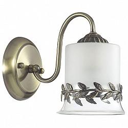 Бра LumionС 1 лампой<br>Артикул - LMN_3283_1W,Бренд - Lumion (Италия),Коллекция - Paolina,Гарантия, месяцы - 24,Высота, мм - 185,Размер упаковки, мм - 180x220x200,Тип лампы - компактная люминесцентная [КЛЛ] ИЛИнакаливания ИЛИсветодиодная [LED],Общее кол-во ламп - 1,Напряжение питания лампы, В - 220,Максимальная мощность лампы, Вт - 60,Лампы в комплекте - отсутствуют,Цвет плафонов и подвесок - белый с бронзовым рисунком и каймой,Тип поверхности плафонов - матовый,Материал плафонов и подвесок - металл, стекло,Цвет арматуры - бронза,Тип поверхности арматуры - матовый, металлик,Материал арматуры - металл,Возможность подлючения диммера - можно, если установить лампу накаливания,Тип цоколя лампы - E27,Класс электробезопасности - I,Степень пылевлагозащиты, IP - 20,Диапазон рабочих температур - комнатная температура,Дополнительные параметры - способ крепления светильника на стене – на монтажной пластине, светильник предназначен для использования со скрытой проводкой<br>