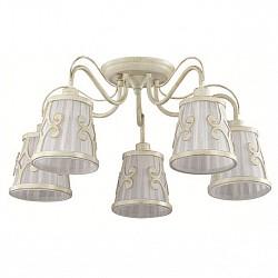 Потолочная люстра LumionТекстильные плафоны<br>Артикул - LMN_3129_5C,Бренд - Lumion (Италия),Коллекция - Fetida,Гарантия, месяцы - 24,Высота, мм - 280,Диаметр, мм - 600,Размер упаковки, мм - 250x430x300,Тип лампы - компактная люминесцентная [КЛЛ] ИЛИнакаливания ИЛИсветодиодная [LED],Общее кол-во ламп - 5,Напряжение питания лампы, В - 220,Максимальная мощность лампы, Вт - 60,Лампы в комплекте - отсутствуют,Цвет плафонов и подвесок - белый с рисунком,Тип поверхности плафонов - матовый,Материал плафонов и подвесок - металл, текстиль,Цвет арматуры - белый с золотой патиной,Тип поверхности арматуры - матовый,Материал арматуры - металл,Возможность подлючения диммера - можно, если установить лампу накаливания,Тип цоколя лампы - E14,Класс электробезопасности - I,Общая мощность, Вт - 300,Степень пылевлагозащиты, IP - 20,Диапазон рабочих температур - комнатная температура,Дополнительные параметры - способ крепления к потолку - на монтажной пластине<br>