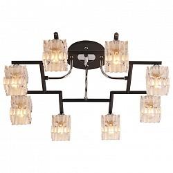 Потолочная люстра IDLampБолее 6 ламп<br>Артикул - ID_205_8PF-Blackchrome,Бренд - IDLamp (Италия),Коллекция - 205,Время изготовления, дней - 1,Высота, мм - 250,Диаметр, мм - 660,Тип лампы - компактная люминесцентная [КЛЛ] ИЛИнакаливания ИЛИсветодиодная [LED],Общее кол-во ламп - 8,Напряжение питания лампы, В - 220,Максимальная мощность лампы, Вт - 60,Лампы в комплекте - отсутствуют,Цвет плафонов и подвесок - неокрашенный,Тип поверхности плафонов - матовый, рельефный,Материал плафонов и подвесок - стекло,Цвет арматуры - хром, черный,Тип поверхности арматуры - глянцевый, матовый,Материал арматуры - металл,Возможность подлючения диммера - можно, если установить лампу накаливания,Тип цоколя лампы - E14,Класс электробезопасности - I,Общая мощность, Вт - 480,Степень пылевлагозащиты, IP - 20,Диапазон рабочих температур - комнатная температура,Дополнительные параметры - способ крепления светильника к потолку – на монтажной пластине<br>