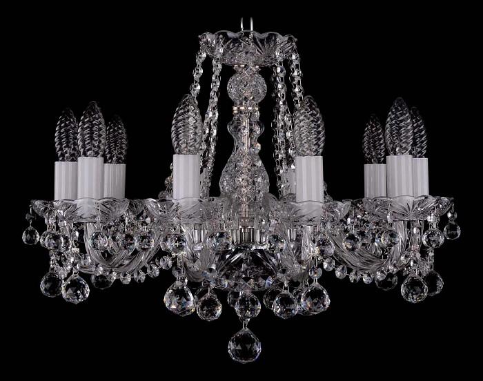 Фото Подвесная люстра Bohemia Ivele Crystal 1402 1402/10/160/Ni/Balls