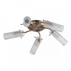 Потолочная люстра TopLight5 или 6 ламп<br>Артикул - TPL_TL7130X-05AB,Бренд - TopLight (Россия),Коллекция - Brittany,Гарантия, месяцы - 24,Высота, мм - 160,Диаметр, мм - 500,Размер упаковки, мм - 160x210x380,Тип лампы - компактная люминесцентная [КЛЛ] ИЛИнакаливания ИЛИсветодиодная [LED],Общее кол-во ламп - 5,Напряжение питания лампы, В - 220,Максимальная мощность лампы, Вт - 40,Лампы в комплекте - отсутствуют,Цвет плафонов и подвесок - белый с неокрашенным каймой,Тип поверхности плафонов - матовый,Материал плафонов и подвесок - стекло,Цвет арматуры - бронза античная,Тип поверхности арматуры - матовый,Материал арматуры - металл,Возможность подлючения диммера - можно, если установить лампу накаливания,Форма и тип колбы - свеча,Тип цоколя лампы - E14,Класс электробезопасности - I,Общая мощность, Вт - 200,Степень пылевлагозащиты, IP - 20,Диапазон рабочих температур - комнатная температура,Дополнительные параметры - способ крепления светильника к потолку - на монтажной пластине<br>