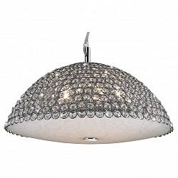 Подвесной светильник Odeon LightС 1 плафоном<br>Артикул - OD_2751_5,Бренд - Odeon Light (Италия),Коллекция - Lotte,Гарантия, месяцы - 24,Время изготовления, дней - 1,Высота, мм - 1470,Диаметр, мм - 390,Тип лампы - галогеновая,Общее кол-во ламп - 5,Напряжение питания лампы, В - 220,Максимальная мощность лампы, Вт - 42,Лампы в комплекте - галогеновые G9,Цвет плафонов и подвесок - белый с рисунком, неокрашенный, хром,Тип поверхности плафонов - матовый, прозрачный,Материал плафонов и подвесок - металл, стекло, хрусталь,Цвет арматуры - хром,Тип поверхности арматуры - глянцевый,Материал арматуры - металл,Возможность подлючения диммера - можно,Форма и тип колбы - пальчиковая,Тип цоколя лампы - G9,Класс электробезопасности - I,Общая мощность, Вт - 210,Степень пылевлагозащиты, IP - 20,Диапазон рабочих температур - комнатная температура<br>