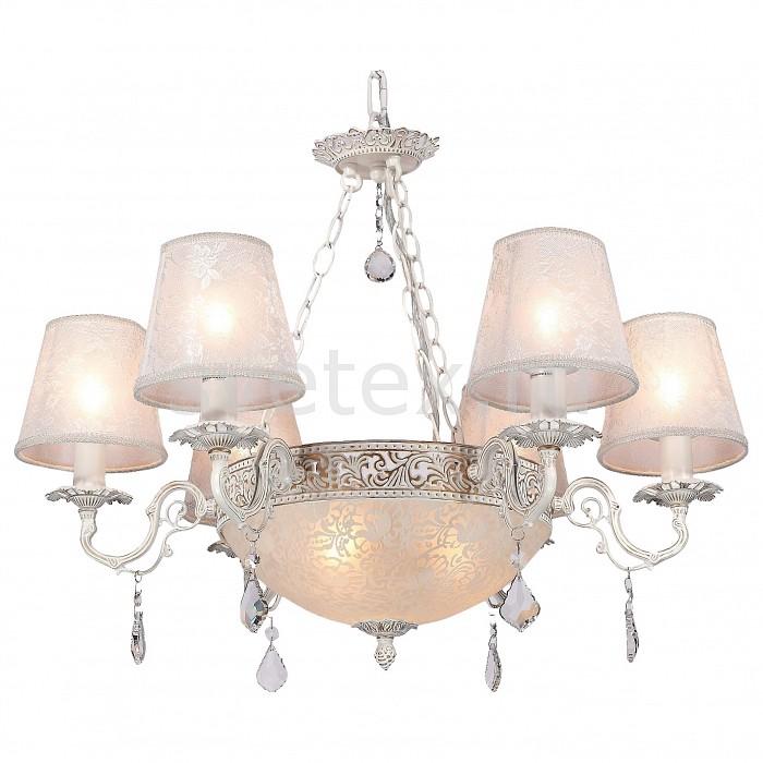Подвесная люстра CitiluxТекстильные плафоны<br>Артикул - CL424161,Бренд - Citilux (Дания),Коллекция - Бельведер,Гарантия, месяцы - 24,Время изготовления, дней - 1,Высота, мм - 480,Диаметр, мм - 690,Тип лампы - компактные люминесцентные [КЛЛ] ИЛИнакаливания ИЛИсветодиодные [LED],Количество ламп - 6, 3,Общее кол-во ламп - 9,Напряжение питания лампы, В - 220,Максимальная мощность лампы, Вт - 40,Лампы в комплекте - отсутствуют,Цвет плафонов и подвесок - белый с рисунком, неокрашенный,Тип поверхности плафонов - матовый, прозрачный,Материал плафонов и подвесок - стекло, текстиль, хрусталь,Цвет арматуры - белый, золото,Тип поверхности арматуры - глянцевый, рельефный,Материал арматуры - металл,Количество плафонов - 7,Возможность подлючения диммера - можно, если установить лампу накаливания,Тип цоколя лампы - E14, E27,Класс электробезопасности - I,Общая мощность, Вт - 360,Степень пылевлагозащиты, IP - 20,Диапазон рабочих температур - комнатная температура,Дополнительные параметры - указана высота светильника без подвеса<br>