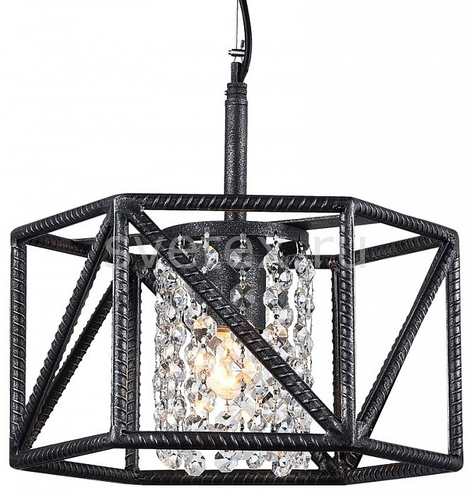 Подвесной светильник FavouriteПодвесные светильники<br>Артикул - FV_1781-1P,Бренд - Favourite (Германия),Коллекция - Hull,Гарантия, месяцы - 24,Высота, мм - 280-1280,Диаметр, мм - 300,Тип лампы - компактная люминесцентная [КЛЛ] ИЛИнакаливания ИЛИсветодиодная [LED],Общее кол-во ламп - 1,Напряжение питания лампы, В - 220,Максимальная мощность лампы, Вт - 60,Лампы в комплекте - отсутствуют,Цвет плафонов и подвесок - неокрашенный, черный с серебряной патиной,Тип поверхности плафонов - прозрачный,Материал плафонов и подвесок - металл, хрусталь,Цвет арматуры - черный с серебряной патиной,Тип поверхности арматуры - матовый,Материал арматуры - металл,Количество плафонов - 1,Возможность подлючения диммера - можно, если установить лампу накаливания,Тип цоколя лампы - E27,Класс электробезопасности - I,Степень пылевлагозащиты, IP - 20,Диапазон рабочих температур - комнатная температура,Дополнительные параметры - регулируется по высоте,  способ крепления светильника к потолку – на монтажной пластине<br>