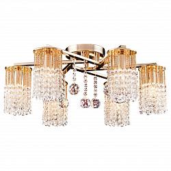 Потолочная люстра Arte Lamp5 или 6 ламп<br>Артикул - AR_A3028PL-6GO,Бренд - Arte Lamp (Италия),Коллекция - Cascata,Гарантия, месяцы - 24,Высота, мм - 250,Диаметр, мм - 610,Размер упаковки, мм - 175x670x600,Тип лампы - компактная люминесцентная [КЛЛ] ИЛИнакаливания ИЛИсветодиодная [LED],Общее кол-во ламп - 6,Напряжение питания лампы, В - 220,Максимальная мощность лампы, Вт - 60,Лампы в комплекте - отсутствуют,Цвет плафонов и подвесок - неокрашенный,Тип поверхности плафонов - прозрачный,Материал плафонов и подвесок - хрусталь,Цвет арматуры - золото,Тип поверхности арматуры - глянцевый,Материал арматуры - металл,Возможность подлючения диммера - можно, если установить лампу накаливания,Тип цоколя лампы - E14,Класс электробезопасности - I,Общая мощность, Вт - 360,Степень пылевлагозащиты, IP - 20,Диапазон рабочих температур - комнатная температура,Дополнительные параметры - способ крепления светильника к потолку – на монтажной пластине<br>