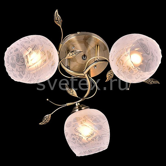 Потолочная люстра ОптимаЛюстры<br>Артикул - EV_76594,Бренд - Оптима (Китай),Коллекция - Хильда,Гарантия, месяцы - 24,Высота, мм - 230,Диаметр, мм - 500,Тип лампы - компактная люминесцентная [КЛЛ] ИЛИнакаливания ИЛИсветодиодная [LED],Общее кол-во ламп - 3,Напряжение питания лампы, В - 220,Максимальная мощность лампы, Вт - 60,Лампы в комплекте - отсутствуют,Цвет плафонов и подвесок - белый с неокрашенным рисунком,Тип поверхности плафонов - матовый,Материал плафонов и подвесок - стекло,Цвет арматуры - бронза античная,Тип поверхности арматуры - матовый,Материал арматуры - металл,Количество плафонов - 3,Возможность подлючения диммера - можно, если установить лампу накаливания,Тип цоколя лампы - E27,Класс электробезопасности - I,Общая мощность, Вт - 180,Степень пылевлагозащиты, IP - 20,Диапазон рабочих температур - комнатная температура,Дополнительные параметры - способ крепления светильника к потолку - на монтажной пластине<br>