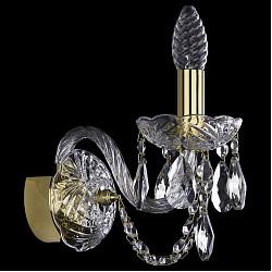 Бра Bohemia Ivele CrystalС 1 лампой<br>Артикул - BI_1400_1_G,Бренд - Bohemia Ivele Crystal (Чехия),Коллекция - 1400,Гарантия, месяцы - 24,Высота, мм - 210,Размер упаковки, мм - 250x180x170,Тип лампы - компактная люминесцентная [КЛЛ] ИЛИнакаливания ИЛИсветодиодная [LED],Общее кол-во ламп - 1,Напряжение питания лампы, В - 220,Максимальная мощность лампы, Вт - 40,Лампы в комплекте - отсутствуют,Цвет плафонов и подвесок - неокрашенный,Тип поверхности плафонов - прозрачный,Материал плафонов и подвесок - хрусталь,Цвет арматуры - золото, неокрашенный,Тип поверхности арматуры - глянцевый, прозрачный, рельефный,Материал арматуры - металл, стекло,Возможность подлючения диммера - можно, если установить лампу накаливания,Форма и тип колбы - свеча ИЛИ свеча на ветру,Тип цоколя лампы - E14,Класс электробезопасности - I,Степень пылевлагозащиты, IP - 20,Диапазон рабочих температур - комнатная температура,Дополнительные параметры - способ крепления светильника на стене – на монтажной пластине, светильник предназначен для использования со скрытой проводкой<br>