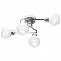 Потолочная люстра IDLampНе более 4 ламп<br>Артикул - ID_361_4A-Whitechrome,Бренд - IDLamp (Италия),Коллекция - 361,Высота, мм - 210,Тип лампы - компактная люминесцентная [КЛЛ] ИЛИнакаливания ИЛИсветодиодная [LED],Общее кол-во ламп - 4,Напряжение питания лампы, В - 220,Максимальная мощность лампы, Вт - 60,Лампы в комплекте - отсутствуют,Цвет плафонов и подвесок - белый полосатый,Тип поверхности плафонов - матовый,Материал плафонов и подвесок - стекло,Цвет арматуры - хром,Тип поверхности арматуры - глянцевый,Материал арматуры - металл,Возможность подлючения диммера - можно, если установить лампу накаливания,Тип цоколя лампы - E14,Класс электробезопасности - I,Общая мощность, Вт - 240,Степень пылевлагозащиты, IP - 20,Диапазон рабочих температур - комнатная температура,Дополнительные параметры - способ крепления светильника к потолку – на монтажной пластине<br>