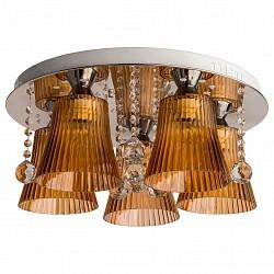 Потолочная люстра MW-LightПолимерные плафоны<br>Артикул - MW_459010505,Бренд - MW-Light (Германия),Коллекция - Ивонна 3,Гарантия, месяцы - 12,Высота, мм - 440,Диаметр, мм - 500,Размер упаковки, мм - 510x510x230,Тип лампы - компактная люминесцентная [КЛЛ] ИЛИнакаливания ИЛИсветодиодная [LED],Общее кол-во ламп - 5,Напряжение питания лампы, В - 220,Максимальная мощность лампы, Вт - 60,Лампы в комплекте - отсутствуют,Цвет плафонов и подвесок - неокрашенный, рыжий,Тип поверхности плафонов - матовый, прозрачный, рельефный,Материал плафонов и подвесок - акрил, хрусталь,Цвет арматуры - хром,Тип поверхности арматуры - глянцевый,Материал арматуры - металл,Тип цоколя лампы - E27,Класс электробезопасности - I,Общая мощность, Вт - 300,Степень пылевлагозащиты, IP - 20,Диапазон рабочих температур - комнатная температура,Дополнительные параметры - способ крепления светильника к потолку – на монтажной пластине<br>
