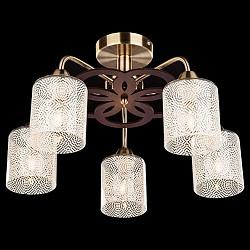 Люстра на штанге Eurosvet5 или 6 ламп<br>Артикул - EV_73969,Бренд - Eurosvet (Китай),Коллекция - 30050,Гарантия, месяцы - 24,Высота, мм - 300,Диаметр, мм - 520,Тип лампы - компактная люминесцентная [КЛЛ] ИЛИнакаливания ИЛИсветодиодная [LED],Общее кол-во ламп - 5,Напряжение питания лампы, В - 220,Максимальная мощность лампы, Вт - 60,Лампы в комплекте - отсутствуют,Цвет плафонов и подвесок - белый с узором,Тип поверхности плафонов - матовый,Материал плафонов и подвесок - стекло,Цвет арматуры - бронза античная, венге,Тип поверхности арматуры - матовый,Материал арматуры - металл,Возможность подлючения диммера - можно, если установить лампу накаливания,Тип цоколя лампы - E14,Класс электробезопасности - I,Общая мощность, Вт - 300,Степень пылевлагозащиты, IP - 20,Диапазон рабочих температур - комнатная температура,Дополнительные параметры - способ крепления светильника к потолку - на монтажной пластине<br>