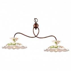 Подвесной светильник Odeon LightСветодиодные<br>Артикул - OD_2621_2,Бренд - Odeon Light (Италия),Коллекция - Amanda,Гарантия, месяцы - 24,Время изготовления, дней - 1,Высота, мм - 370,Тип лампы - компактная люминесцентная [КЛЛ] ИЛИнакаливания ИЛИсветодиодная [LED],Общее кол-во ламп - 2,Напряжение питания лампы, В - 220,Максимальная мощность лампы, Вт - 40,Лампы в комплекте - отсутствуют,Цвет плафонов и подвесок - белый с рисунком,Тип поверхности плафонов - матовый,Материал плафонов и подвесок - керамика,Цвет арматуры - медь,Тип поверхности арматуры - матовый,Материал арматуры - металл,Возможность подлючения диммера - можно, если установить лампу накаливания,Тип цоколя лампы - E27,Класс электробезопасности - I,Общая мощность, Вт - 80,Степень пылевлагозащиты, IP - 20,Диапазон рабочих температур - комнатная температура,Дополнительные параметры - указана высота светильника без подвеса<br>