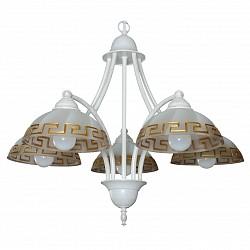 Подвесная люстра Аврора5 или 6 ламп<br>Артикул - AV_10053-5L,Бренд - Аврора (Россия),Коллекция - Афина,Гарантия, месяцы - 24,Высота, мм - 470-1020,Диаметр, мм - 560,Тип лампы - компактная люминесцентная [КЛЛ] ИЛИнакаливания ИЛИсветодиодная [LED],Общее кол-во ламп - 5,Напряжение питания лампы, В - 220,Максимальная мощность лампы, Вт - 60,Лампы в комплекте - отсутствуют,Тип поверхности плафонов - матовый,Материал плафонов и подвесок - стекло,Цвет арматуры - белый с золотой патиной,Тип поверхности арматуры - матовый,Материал арматуры - металл,Возможность подлючения диммера - можно, если установить лампу накаливания,Тип цоколя лампы - E14,Класс электробезопасности - I,Общая мощность, Вт - 300,Степень пылевлагозащиты, IP - 20,Диапазон рабочих температур - комнатная температура,Дополнительные параметры - способ крепления светильника к потолку – на крюке, регулируется по высоте<br>