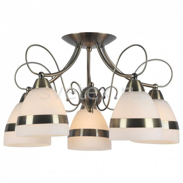 Потолочная люстра Arte LampЛюстры<br>Артикул - AR_A6192PL-5AB,Бренд - Arte Lamp (Италия),Коллекция - Noemi,Гарантия, месяцы - 24,Высота, мм - 280,Диаметр, мм - 530,Тип лампы - компактная люминесцентная [КЛЛ] ИЛИнакаливания ИЛИсветодиодная [LED],Общее кол-во ламп - 5,Напряжение питания лампы, В - 220,Максимальная мощность лампы, Вт - 40,Лампы в комплекте - отсутствуют,Цвет плафонов и подвесок - белый с каймой,Тип поверхности плафонов - матовый,Материал плафонов и подвесок - металл, стекло,Цвет арматуры - бронза античная,Тип поверхности арматуры - глянцевый,Материал арматуры - металл,Количество плафонов - 5,Возможность подлючения диммера - можно, если установить лампу накаливания,Тип цоколя лампы - E14,Класс электробезопасности - I,Общая мощность, Вт - 200,Степень пылевлагозащиты, IP - 20,Диапазон рабочих температур - комнатная температура,Дополнительные параметры - способ крепления светильника к потолку - на монтажной пластине<br>