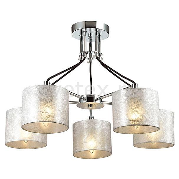 Люстра на штанге LumionСветильники<br>Артикул - LMN_3412_5,Бренд - Lumion (Италия),Коллекция - Odri,Гарантия, месяцы - 24,Высота, мм - 450,Диаметр, мм - 630,Размер упаковки, мм - 160x540x350,Тип лампы - компактная люминесцентная [КЛЛ] ИЛИнакаливания ИЛИсветодиодная [LED],Общее кол-во ламп - 5,Напряжение питания лампы, В - 220,Максимальная мощность лампы, Вт - 40,Лампы в комплекте - отсутствуют,Цвет плафонов и подвесок - серебро,Тип поверхности плафонов - матовый,Материал плафонов и подвесок - текстиль,Цвет арматуры - хром,Тип поверхности арматуры - глянцевый,Материал арматуры - металл,Количество плафонов - 5,Возможность подлючения диммера - можно, если установить лампу накаливания,Тип цоколя лампы - E14,Класс электробезопасности - I,Общая мощность, Вт - 200,Степень пылевлагозащиты, IP - 20,Диапазон рабочих температур - комнатная температура,Дополнительные параметры - способ крепления светильника к потолку - на монтажной пластине<br>