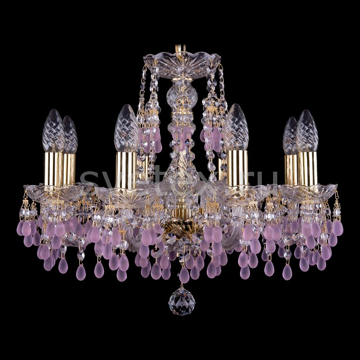 Фото Подвесная люстра Bohemia Ivele Crystal 1410 1410/8/160/G/7010