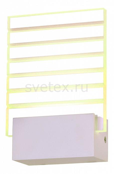 Накладной светильник ST-LuceСветодиодные<br>Артикул - SL580.101.01,Бренд - ST-Luce (Китай),Коллекция - Luogo,Гарантия, месяцы - 24,Ширина, мм - 120,Высота, мм - 175,Выступ, мм - 60,Размер упаковки, мм - 550x410x215,Тип лампы - светодиодная [LED],Общее кол-во ламп - 1,Максимальная мощность лампы, Вт - 6,Цвет лампы - белый,Лампы в комплекте - светодиодная [LED],Цвет плафонов и подвесок - неокрашенный полосатый,Тип поверхности плафонов - прозрачный,Материал плафонов и подвесок - стекло,Цвет арматуры - белый,Тип поверхности арматуры - матовый,Материал арматуры - металл,Количество плафонов - 1,Возможность подлючения диммера - нельзя,Цветовая температура, K - 4000 K,Экономичнее лампы накаливания - в 10 раз,Класс электробезопасности - I,Напряжение питания, В - 220,Степень пылевлагозащиты, IP - 20,Диапазон рабочих температур - комнатная температура,Дополнительные параметры - способ крепления светильника на стене – на монтажной пластине, светильник предназначен для использования со скрытой проводкой<br>
