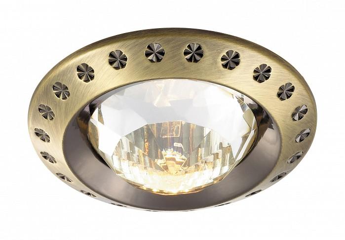 Встраиваемый светильник NovotechВстраиваемые светильники<br>Артикул - NV_369645,Бренд - Novotech (Венгрия),Коллекция - Glam,Гарантия, месяцы - 24,Время изготовления, дней - 1,Глубина, мм - 20,Диаметр, мм - 80,Размер врезного отверстия, мм - 68,Тип лампы - галогеновая ИЛИсветодиодная [LED],Общее кол-во ламп - 1,Напряжение питания лампы, В - 12,Максимальная мощность лампы, Вт - 50,Лампы в комплекте - отсутствуют,Цвет плафонов и подвесок - неокрашенный,Тип поверхности плафонов - прозрачный, рельефный,Материал плафонов и подвесок - хрусталь,Цвет арматуры - бронза,Тип поверхности арматуры - глянцевый,Материал арматуры - алюминиевое литье,Количество плафонов - 1,Возможность подлючения диммера - можно, если установить галогеновую лампу,Форма и тип колбы - полусферическая с рефлектором ИЛИполусферическая с радиатором,Тип цоколя лампы - GX5.3,Экономичнее лампы накаливания - на 50%,Класс электробезопасности - I,Напряжение питания, В - 220,Степень пылевлагозащиты, IP - 20,Диапазон рабочих температур - комнатная температура,Дополнительные параметры - возможна установка лампы GX5.3 (MR-16) на 12 В с подключением через трансформатор 12 В<br>