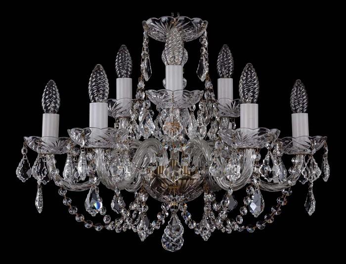 Фото Подвесная люстра Bohemia Ivele Crystal 1406 1406/6_3/195/Pa/Leafs