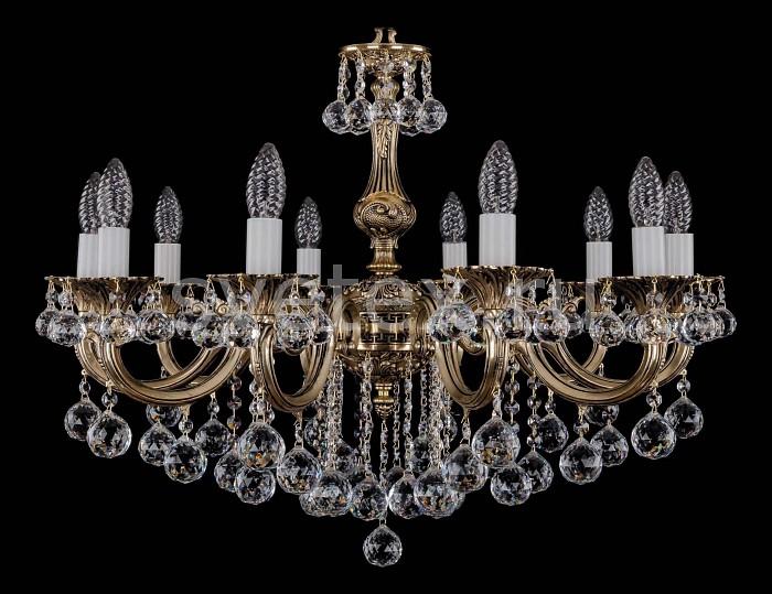 Фото Подвесная люстра Bohemia Ivele Crystal 1702 1702/10/B/GB/Balls