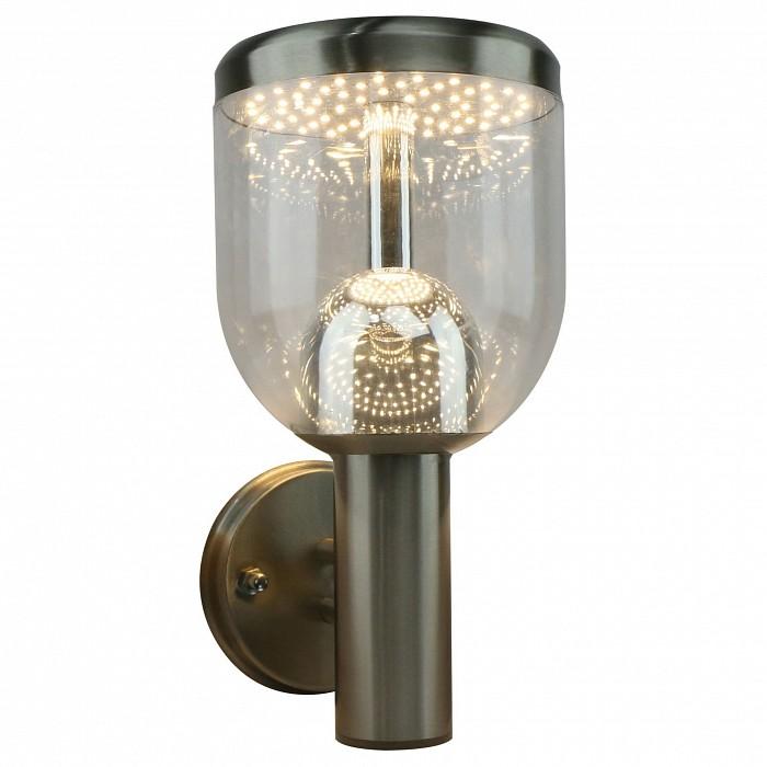 Светильник на штанге Arte LampСветодиодный светильник<br>Артикул - AR_A8163AL-1SS,Бренд - Arte Lamp (Италия),Коллекция - A8163,Гарантия, месяцы - 24,Ширина, мм - 190,Высота, мм - 290,Выступ, мм - 150,Размер упаковки, мм - 265x155x255,Тип лампы - светодиодная [LED],Общее кол-во ламп - 1,Напряжение питания лампы, В - 220,Максимальная мощность лампы, Вт - 7,Цвет лампы - белый теплый,Лампы в комплекте - светодиодная [LED],Цвет плафонов и подвесок - неокрашенный,Тип поверхности плафонов - прозрачный,Материал плафонов и подвесок - полимер,Цвет арматуры - серебро,Тип поверхности арматуры - матовый,Материал арматуры - металл,Количество плафонов - 1,Цветовая температура, K - 3000 K,Световой поток, лм - 490,Экономичнее лампы накаливания - в 7 раз,Светоотдача, лм/Вт - 70,Ресурс лампы - 25 тыс. час.,Класс электробезопасности - I,Степень пылевлагозащиты, IP - 44,Диапазон рабочих температур - от -40^C до +40^C,Дополнительные параметры - способ крепления светильника на стене – на монтажной пластине<br>